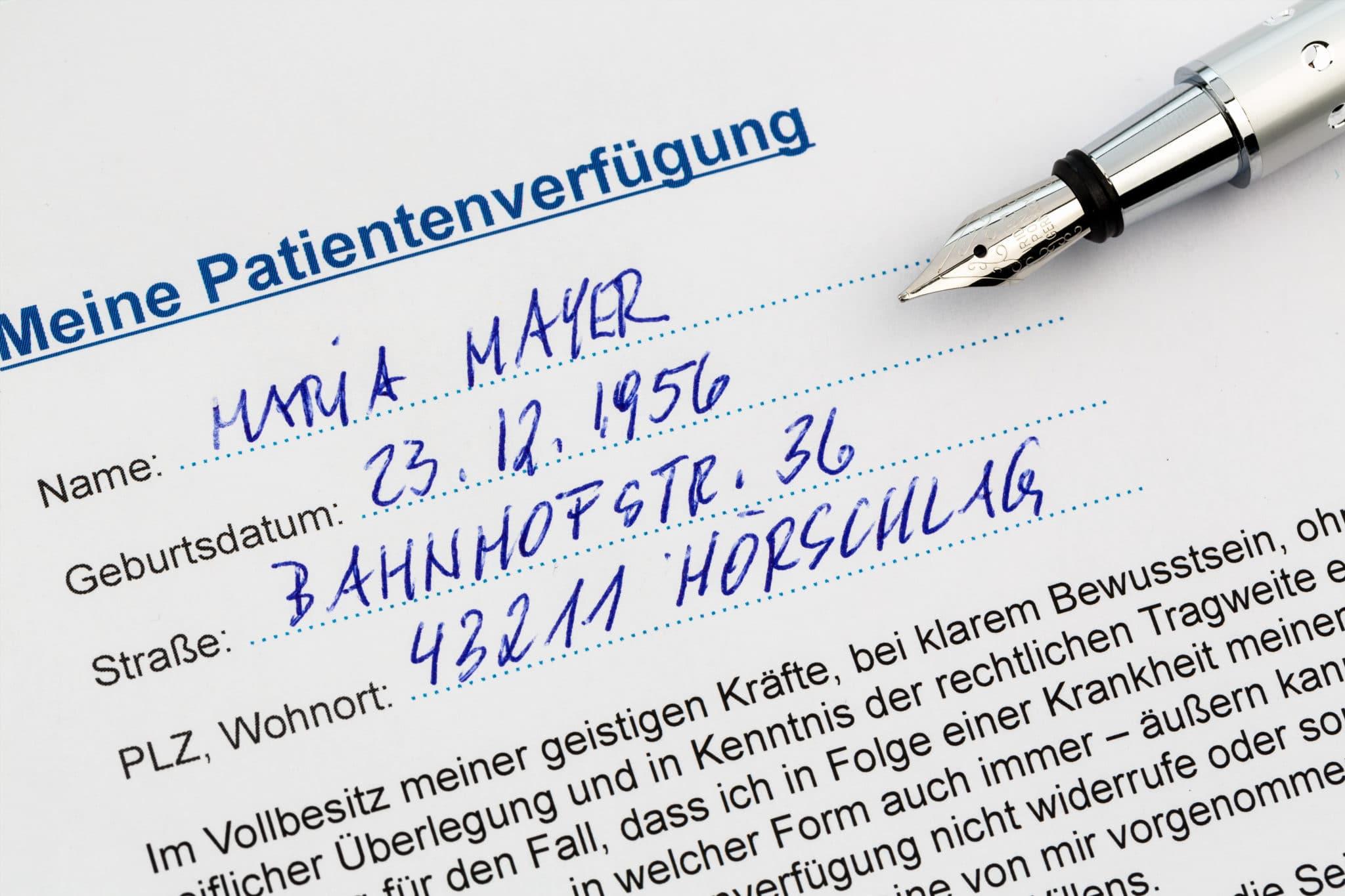 Fachanwalt für Erbrecht Patientenverfügung Notar